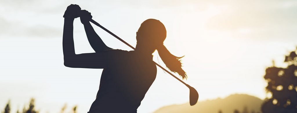 silhouette-young-female-golf-player-hit-sweeping-keep-golf-course-doing-golf-swing-she-does-exercise-relax-time-vintage-tone