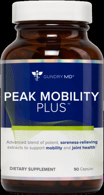 A bottle of PEAK Mobility plus